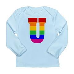 Rainbow Letter U Long Sleeve Infant T-Shirt