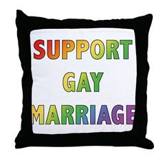 Support Gay Marriage Throw Pillow