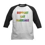 Support Gay Marriage Kids Baseball Jersey