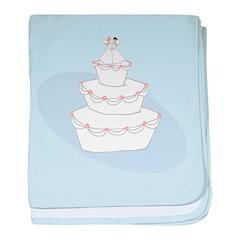 2 Brides Wedding Cake Infant Blanket