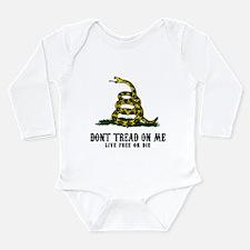 Don't Tread on Me 3 Long Sleeve Infant Bodysuit