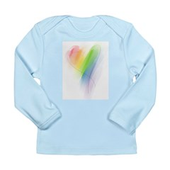 Rainbow Heart Long Sleeve Infant T-Shirt