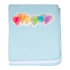 Rainbow Hearts Infant Blanket