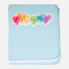 Rainbow Hearts Infant Blanket