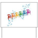 Rainbow Patio Chairs Yard Sign