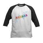 Rainbow Patio Chairs Kids Baseball Jersey