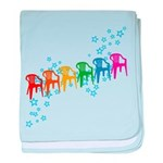 Rainbow Patio Chairs Infant Blanket