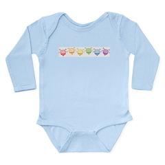 Rainbow Bees Long Sleeve Infant Bodysuit