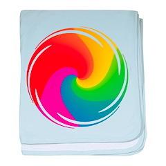 Rainbow Swirl Infant Blanket