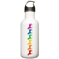 Rainbow Colored Horses Water Bottle