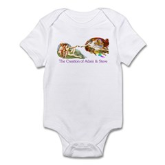 Creation of Adam And Steve Infant Bodysuit