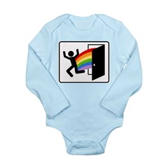 Coming Out Exit Sign Long Sleeve Infant Bodysuit