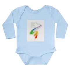 Dove with Rainbow Ribbon Long Sleeve Infant Bodysu