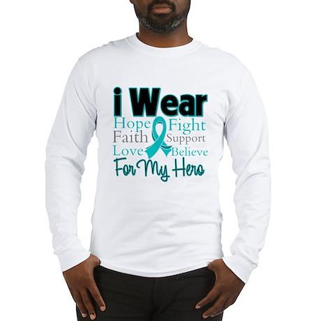 Hero - Ovarian Cancer Long Sleeve T-Shirt