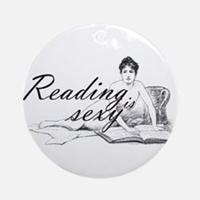 Reading is Sexy - nude Ornament (Round)