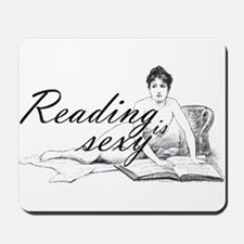 Reading is Sexy - nude Mousepad