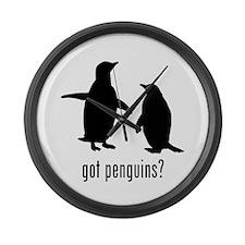 Penguins Large Wall Clock