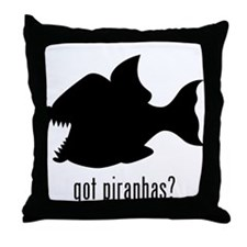 Piranhas Throw Pillow