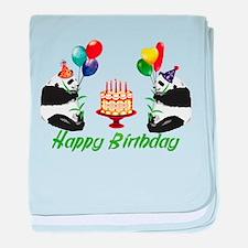 Birthday Pandas Infant Blanket