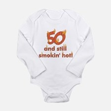 Hot Smokin' and Fifty Long Sleeve Infant Bodysuit