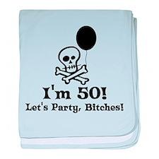 50th Birthday Party Infant Blanket