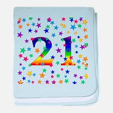 Rainbow Stars 21st Birthday Infant Blanket