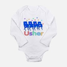 Usher Hearts and Chairs Long Sleeve Infant Bodysui
