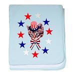 Independence Day Kitten Infant Blanket