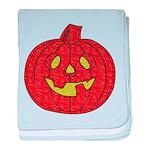 Grinning Halloween Pumpkin Infant Blanket