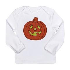 Grinning Halloween Pumpkin Long Sleeve Infant T-Sh