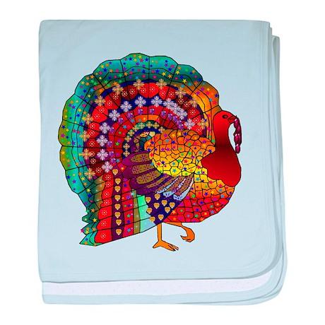 Thanksgiving Jeweled Turkey baby blanket