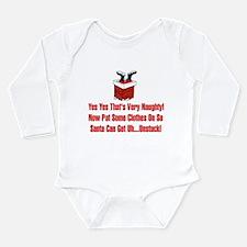 Santa Humor Long Sleeve Infant Bodysuit
