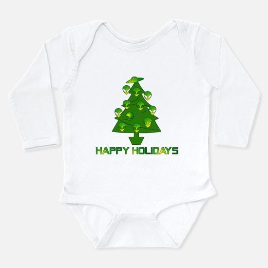 Alien Christmas Tree Long Sleeve Infant Bodysuit