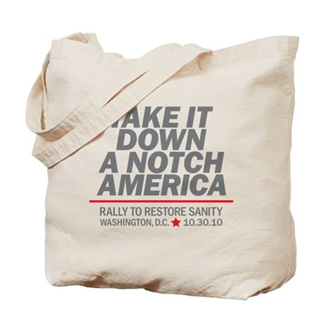 Take it down a notch Tote Bag