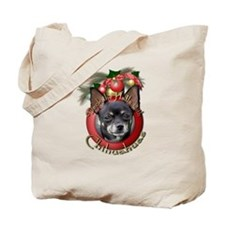 Christmas - Deck the Halls - Chihuahuas Tote Bag