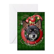 Christmas - Deck the Halls - Chihuahuas Greeting C