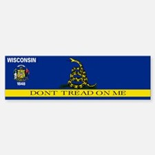 Dont Tread on Me Wisconsin Bumper Bumper Sticker