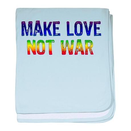 Make Love Not War Infant Blanket