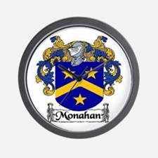 Monahan Coat of Arms Wall Clock