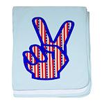 Patriotic Peace Sign Infant Blanket