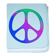 Classic Rainbow Peace Sign Infant Blanket