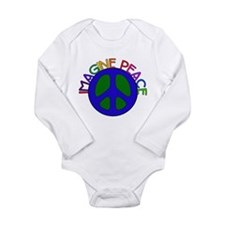 Imagine Peace Long Sleeve Infant Bodysuit