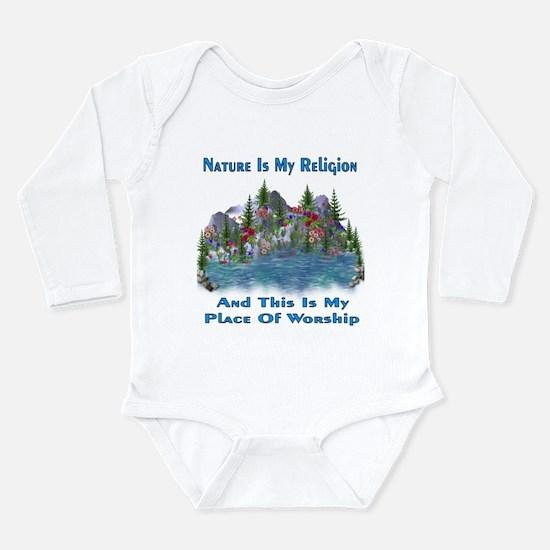 Nature Is My Religion Long Sleeve Infant Bodysuit