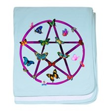 Wiccan Star and Butterflies Infant Blanket