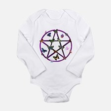 Wiccan Star and Butterflies Long Sleeve Infant Bod