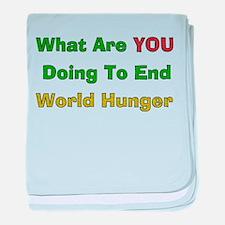 End World Hunger Infant Blanket