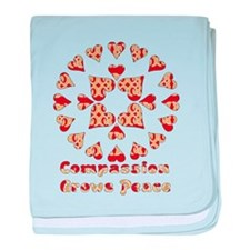 Compassion Grows Peace Infant Blanket