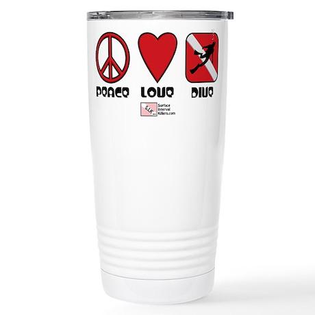 Peace Love Stainless Steel Travel Mug