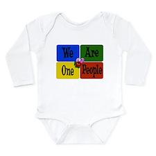 One World, One People Long Sleeve Infant Bodysuit