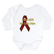 Fight AIDS Long Sleeve Infant Bodysuit